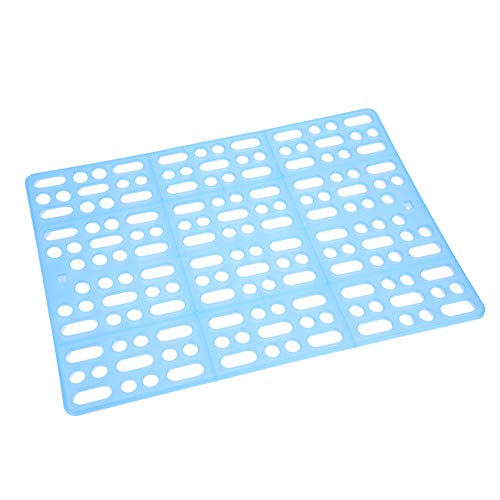 HEEPDD Rabbit Cage Mat, Plastic Pet Foot Mat Durable Easy Clean Nest Pad for Rabbit Guinea Pig Hamster Rats and Other Rodents (Blue)