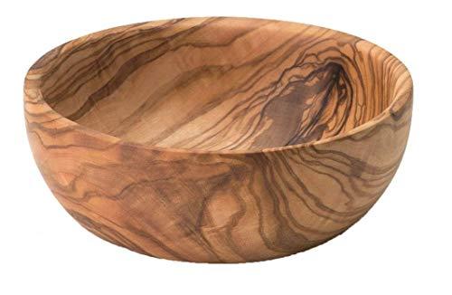 mina concept Edle Schale aus hochwertigem Olivenholz, Durchmesser: 19 cm, z.B. als Obst-, Deko-, Schmuck-, Servierschale I jedes Stück EIN Unikat aufgrund der einzigartigen Maserung