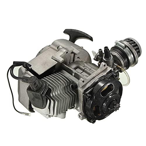 Motor de motor de motocicleta de 2 tiempos Transmisión de arranque por motor con filtro de aire para 47cc 49cc Sucio de suciedad Bicicleta de bolsillo Mini suciedad CANAL DE TELEVISIÓN BRITÁNICO Patio