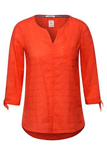 Cecil Damen 342525 Bluse, Papaya orange, XXL