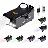 Fog Machine with Controllable Lights, VIRFUN Wireless Remote Control Smoke Machine with RGB Colorful Lights Effect for...