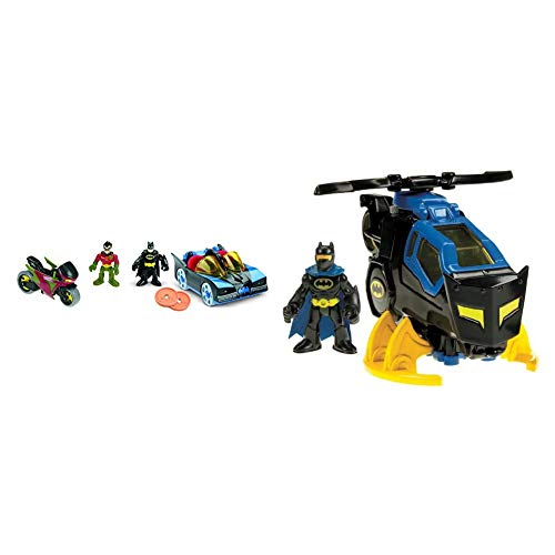 Fisher-Price Imaginext DC Super Friends, Batmobile & Cycle, What's The Coolest Way for Kids to Cruise Around Gotham City & Imaginext DC Super Friends, Batcopter [Amazon Exclusive]