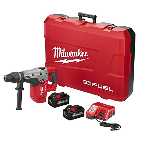 Milwaukee Tool 2717-22HD Rotary Cordless SDS Max Hammer Drill Kit 1-9/16 Inch 18.75 Inch M18 Fuel SDS Max