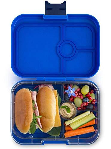 Yumbox Panino M Lunchbox (Neptune Blue, 4 Fächer) - mittelgroß | Bento Box Brotdose Vesperbox für Kindergarten Kinder, Schule und Erwachsene
