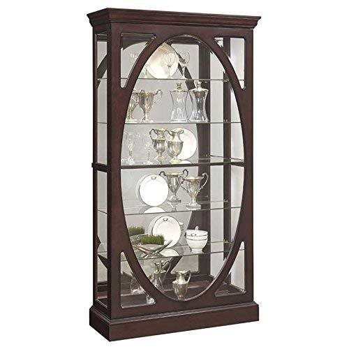 Pulaski  Sable Oval Framed Mirrored Curio Cabinet 43.0' x 15.1' x 80.0'