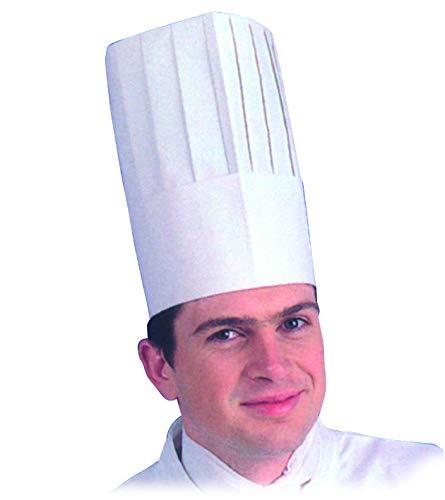 MALLARD FERRIERE–Gorro de Cocinero de Papel, Altura 26,5cm, 10Unidades
