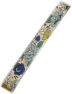 ナチュラルブルー-4 有輪YUWA シャモニー綿麻バイアステープ 両折15ミリ幅 1.6m