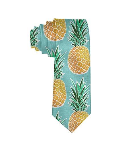 Men Necktie Ties, Gentlemen Tie Necktie, Classic Slim Ties Necktie, Formal Necktie Ties for Wedding, Business, party, Novelty ELong Necktie - Hawaiian Tropical Pineapple Ties
