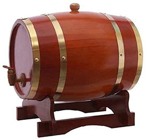 Weinfässer Reine Eiche Fässer, 5L Whisky Fässer, Home Decor Eimer für die Lagerung Ihres Weinlikör Whisky Whisky Fass,Chocolate