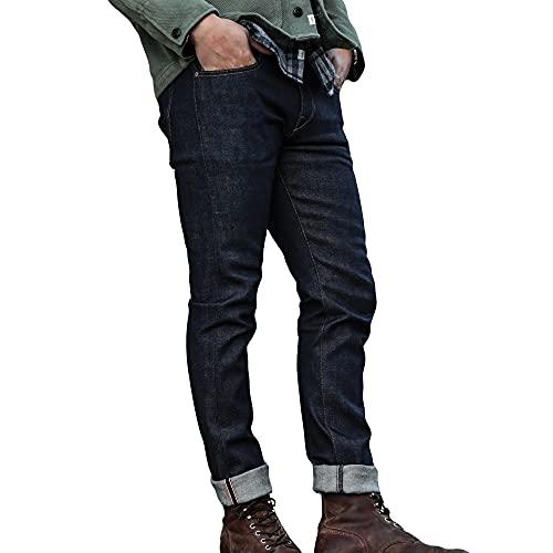 HIROSHI KATO Slim fit Jeans The Pen 14 oz Indigo Raw 34 4-Way Stretch Japanese Selvedge Denim