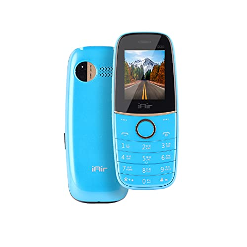 IAIR Basic Feature Dual Sim Mobile Phone with 1200mAh Battery, 1.77 inch Display Screen, 0.8 mp Camera with Sleek Body and Torch (IAIRFPD20, Blue)