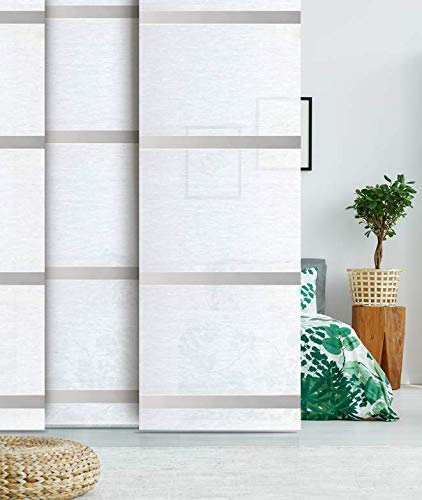 Madecostore - Panel japonés para cortina de aluminio, 45 x 260 cm, color blanco