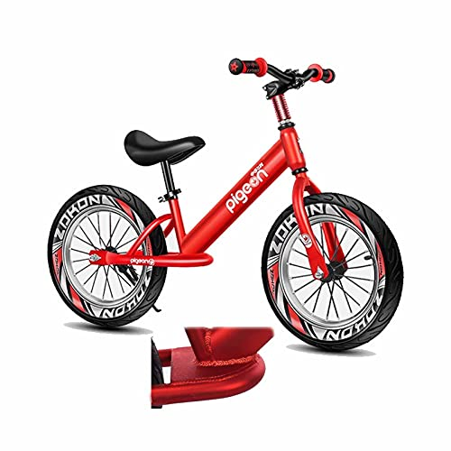 Bicicleta Sin Pedales Equilibrio Niña Grande, Niño Bicicleta de Equilibrio con Neumático de Aire de 16 Pulgadas, Grande Sin Pedal Bicicleta de Entrenamiento para Principiantes, Marco de Aluminio Liger