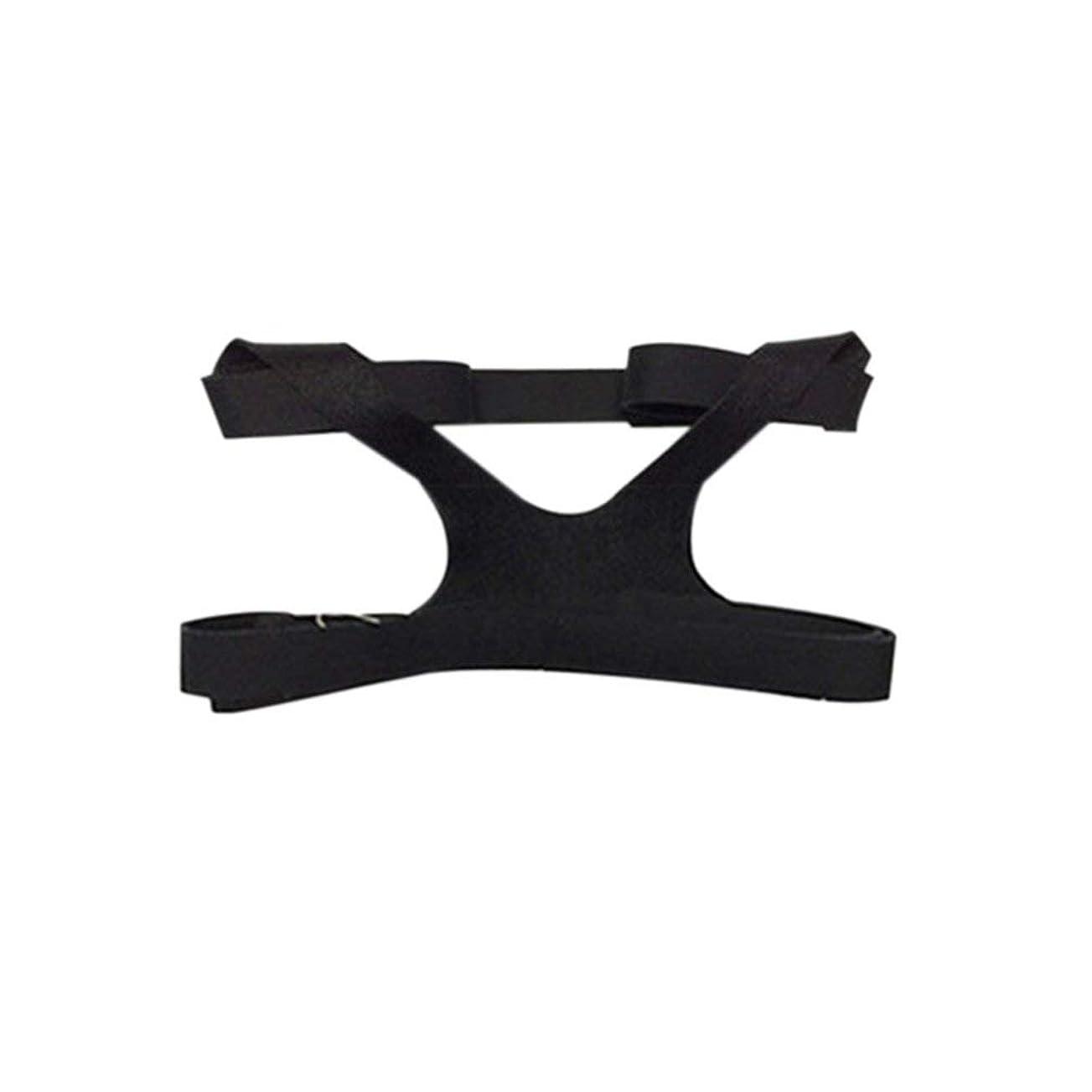 崇拝する意識つまずくユニバーサルデザインヘッドギアコンフォートジェルフルマスク安全な環境での交換用CPAPヘッドバンドなしPHILPS - ブラック
