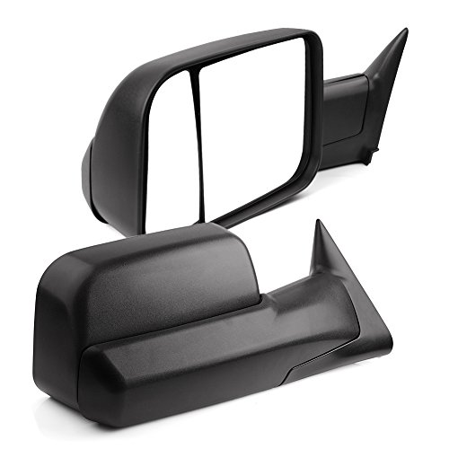 YITAMOTOR Towing Mirrors Compatible with Dodge Ram, Manual Flip Up Folding with Support Brackets Tow Mirrors, Replacement for Dodge Ram 1994-2001 1500, Ram 1994-2002 2500 3500 Truck