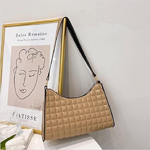 Shoulder Bags Female Baguette Bag Max 62% OFF Underarm Plaid depot Fashion So
