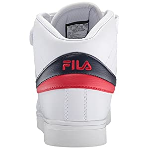 Fila Men's Vulc 13 MID Plus 2 Walking Shoe, White Navy red-150, 11.5 D US