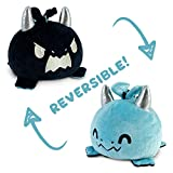 TeeTurtle | The Original Reversible Dragon Plushie | Patented Design | Blue & Black | Show Your Mood Without Saying a Word!