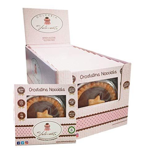 Confezione da 10 Crostatine Artigianali Gluten Free Monoporzione - Nocciola