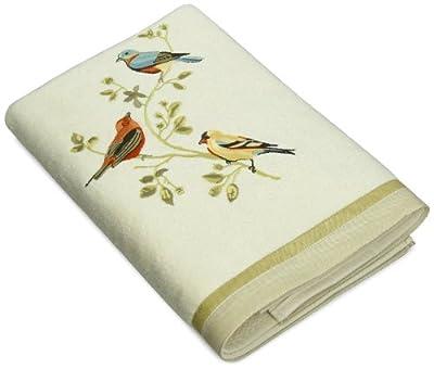 Avanti Linens Gilded Birds Bath Towel, Ivory