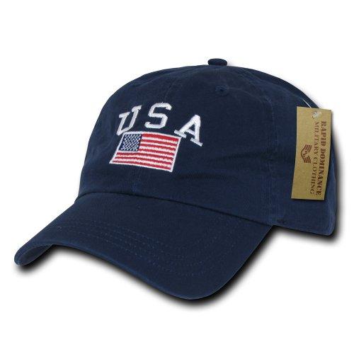 Rapiddominance Polo Style USA Cap, Navy