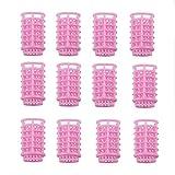 Binghotfire 12 unids/Set rizador de Pelo de plástico, rizador de Pelo, Rodillos Flexibles, rizadores de Pelo DIY al Azar