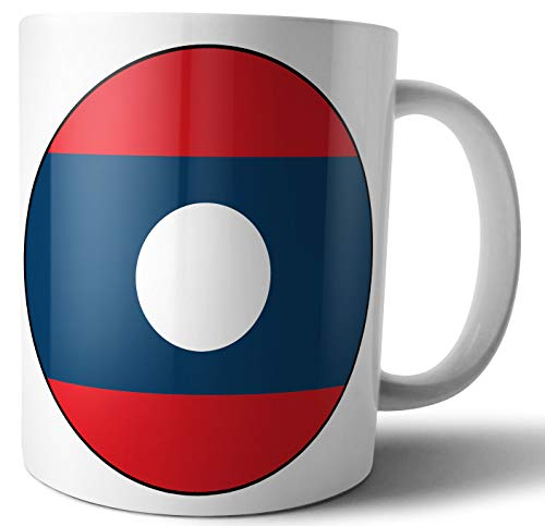 Laos – Laotische Flagge – Tee – Kaffee – Tasse – Tasse – Geburtstag – Weihnachten – Geschenk – Secret Santa – Strumpffüller