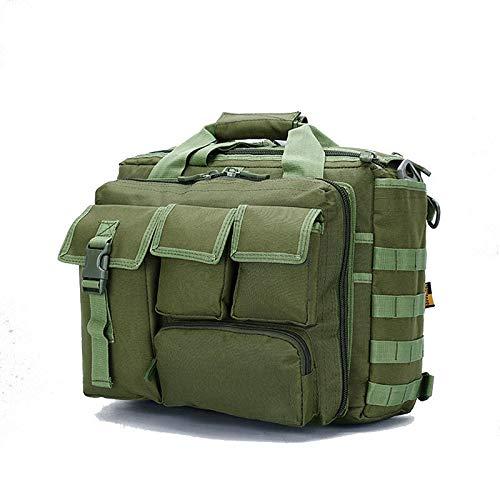 盛世汇众 Outdoor Shoulder Bag Nylon Crossbody Camouflage Backpack Laptop Handbag Mountaineering Hiking Bag (color : Army green)