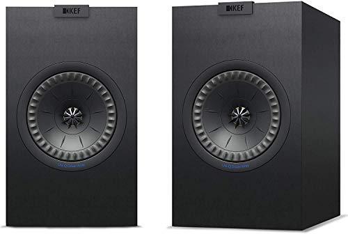 KEF Q150 Noir Haut-Parleur - Hauts-parleurs (2-Voies, 2.0 canaux, 51-28000 Hz, 8 Ohm, Noir)