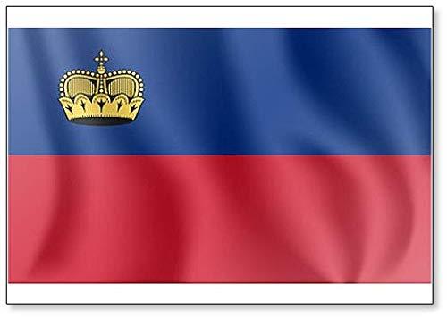 Kühlschrankmagnet mit winkender Flagge des Prinzipums von Liechtenstein
