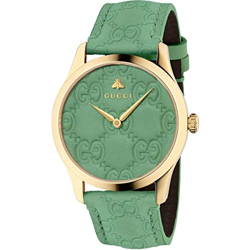 Gucci YA1264099 Groen Staal 316 l Analoog Quartz Unisex horloge