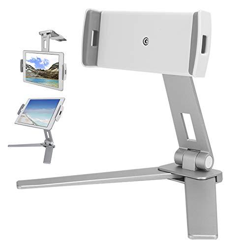 Homeriy Soporte para Teléfono Móvil Aleación de Aluminio Clip Doble Soporte de Pared para Dormitorio de Cocina