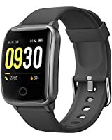 Willful Smart Watch for Men Women 2020 Version IP68 Waterproof, Fitness Tracker Heart Rate Monitor Sport Digital Watch, Smartwatch for Android Phones and iOS Phones Compatible iPhone Samsung (Black)