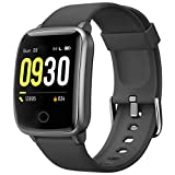 Willful Smart Watch for Men Women IP68 Waterproof, Fitness Tracker Heart Rate Monitor Sport Digital Watch, Smartwatch for Android Phones and iOS Phones Compatible iPhone Samsung (Black)