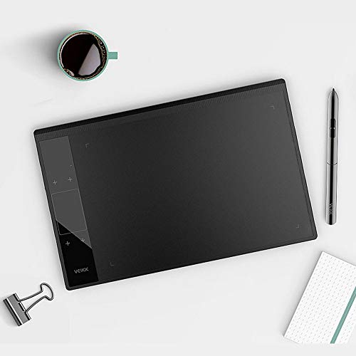 Zeichentablett Profi,Version Stifttablett Graphic Tablet mit 8192 Druckempfindlichkeitsstufe Stift und Type-C Kompatibel 10 x 6 Zoll Grafiktablett