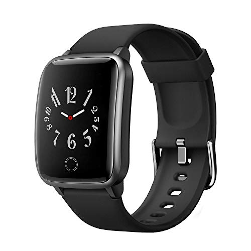 Curved Screen Smart Watch for Android iOS Phones, Activity Fitness Tracker Health Exercise Smartwatch Pedometer Heart Rate Sleep Monitor Compatible with Samsung Apple iPhone Huawei for Men Women