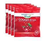 Best Health Cough Drops - SoundHealth Cough Drops, Cough Suppressant Throat Lozenge, Cherry Review