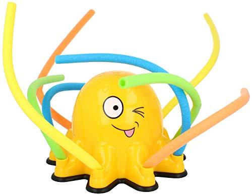 com-four® Wassersprinkler für Kinder - Oktopus Sprinkler für großen Wasserspaß im Garten - bunter Rasensprenger [Farbauswahl variiert]