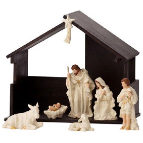 Belleek Nativity Set, White