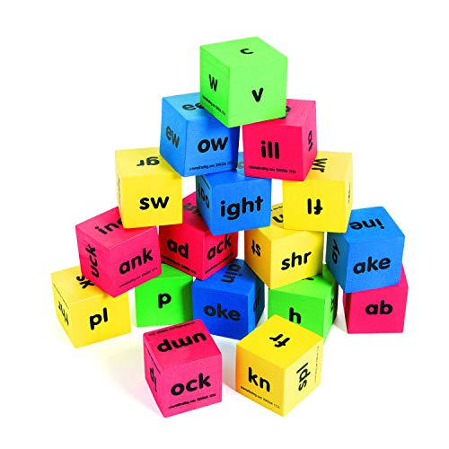 Fun Express Word Family Dice - 17 Pieces - Educational and Learning Activities for Kids