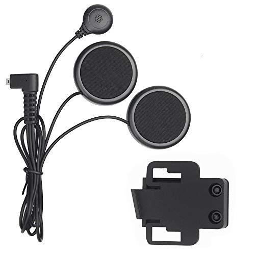 Riloer Auriculares Bluetooth para casco de motocicleta, casco sin hueso