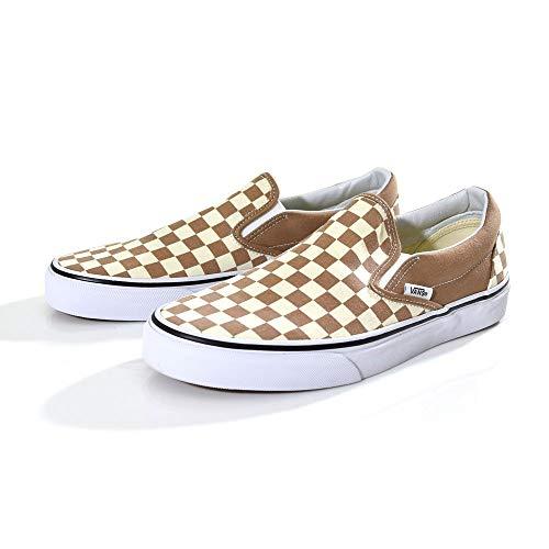 Vans Classic Slip On Checkerboard Beige/Brown/White Unisex Shoes Women/Men (12.0 Men/ 13.5 Women)