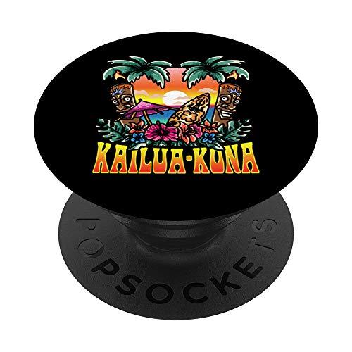Diseño de inspiración hawaiana relacionado con Kailua Kona PopSockets PopGrip Intercambiable