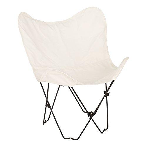 Grasa catálogo alt-oug1002cr-so Metal mariposa silla, crema