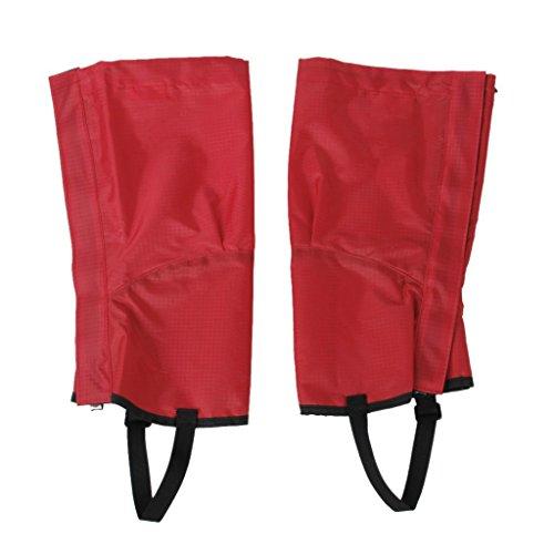 Tfxwerws Taille M Rouge Simple randonnée d'escalade étanche Neige Sable jambe Guêtre Chaussures couvertures Accessoires