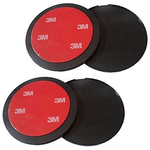 4PCS Discos Adhesivos de Salpicadero Disco de Montaje Adhesivo 70mm Disco de Montaje para Salpicadero con Adhesivo 3M para Sat Nav GPS Montaje en Ventosa Salpicadero Soporte para teléfono de Coche