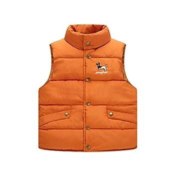 KONF Toddler Snowsuit Christmas Thanksgiving Gift Youth Teen Boys Girls Sleeveless Cartoon Outdoor Vest Waistcoat Outwear Outfits Orange