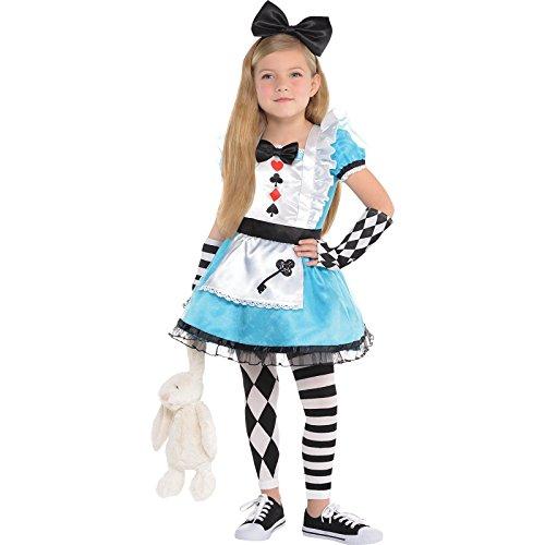 amscan- Alice Costume Age 6-8 Years-1 Pc Disfraz de Alicia de 6 a 8 años, 1 Pieza, Multicolor, Medium (9901799)
