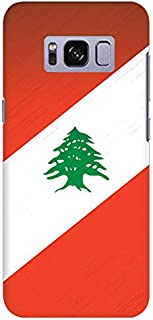 Stylizedd Samsung Galaxy S8 Plus Slim Snap Case Cover Matte Finish - Flag Of Lebanon
