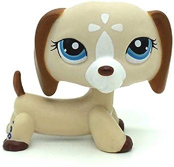N/N Littlest Pet Shop LPS Toy Animals LPSs Blue Eye Dachshund Dog Figure Loose Toys